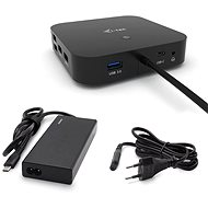 i-tec USB-C Dual Display Docking Station with Power Delivery 65W + i-tec Universal Charger 77W - Docking Station