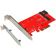 I-TEC PCI-E 2x M.2 Card (PCI-E/SATA) - Expansion Card