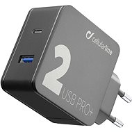 Cellularline Multipower 2 PRO+ with Smartphone Detect Technology USB-C + USB port 36W black - Charger