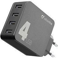 Cellularline Multipower 4 with Smartphone Detect 4 x USB port 42W black - Charger