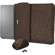 TRUST YVO MOUSE & SLEEVE F/15.6 - BRNHR - Laptop Case