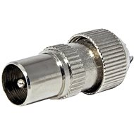 OEM Antenna connector 75 Ohm PAL (M), IEC169-2, screw, metal - Connector