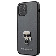 Karl Lagerfeld Saffiano Iconic for Apple iPhone 12 Pro Max, Silver - Mobile Case