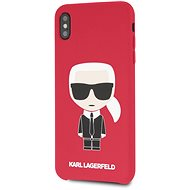 Karl Lagerfeld Full Body Iconic for iPhone XS Max, Red - Mobile Case