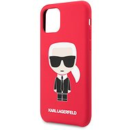 Karl Lagerfeld Iconic Body Cover for iPhone 11 Pro, Red (EU Blister) - Mobile Case