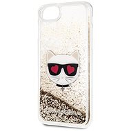 Karl Lagerfeld Floating Hearts for iPhone 8/SE 2020, Gold - Mobile Case