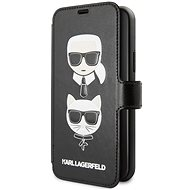Karl Lagerfeld Cardslots Book for iPhone 11, Black - Mobile Phone Case