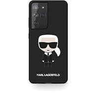 Karl Lagerfeld Iconic Full Body Silicone Case for Samsung Galaxy S21 Ultra Black - Mobile Case
