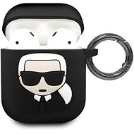 Karl Lagerfeld Silicone Cover for Airpod, Black - Case