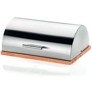 Kela DE LUXE stainless steel / wood - Bread bin