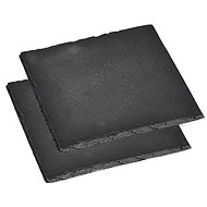 Kesper Slate Plate Set for Serving Food, Square 13 x 13cm - Tray