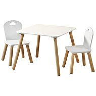 Kesper Children's Table with Two Chairs - White - Children's Furniture