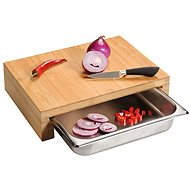 Kesper Cutting Board with Gastro Container, Bamboo 37.5 x 27.5 x 9.5cm - Chopping Board
