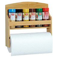 Kesper Shelf with Spice Jars and Paper Roll - Spice Container Set