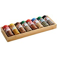 Kesper Box made of Bamboo with 8 Jars - Spice Container Set