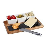 Kitchen Artist Acacia Aperitif and Cheese Set MES110 - Serving set