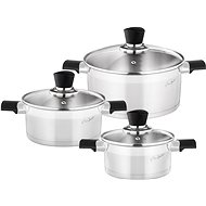 LAMART LT1109 DISHES SET 6PCS STAINLESS STEEL COOKY L - Pot Set