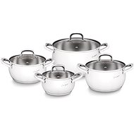 LAMART LT1111 COOKWARE SET 8PCS STAINLESS STEEL SHAPE L - Pot Set