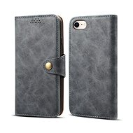 Lenuo Leather for iPhone SE 2020/8/7, Grey - Mobile Phone Case