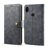 Lenuo Leather for Xiaomi Redmi Note 7, Grey