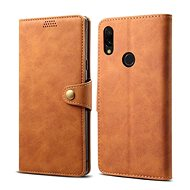 Lenuo Leather for Xiaomi Redmi 7, Brown
