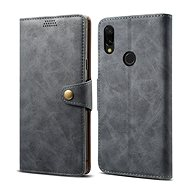 Lenuo Leather for Xiaomi Redmi 7, Grey - Mobile Phone Case