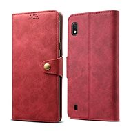 Lenuo Leather for Samsung Galaxy A10, Red