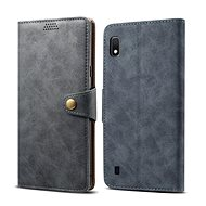 Lenuo Leather for Samsung Galaxy A10, Grey - Case for mobile phone