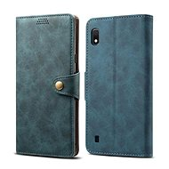 Lenuo Leather for Samsung Galaxy A10, Blue - Case for mobile phone