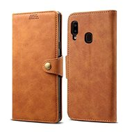 Lenuo Leather for Samsung Galaxy A20e, Brown