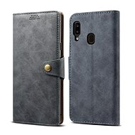 Lenuo Leather for Samsung Galaxy A20e, Grey