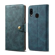 Lenuo Leather for Samsung Galaxy A20e, Blue
