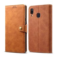 Lenuo Leather for Samsung Galaxy A30, Brown - Mobile Phone Case