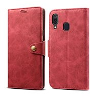 Lenuo Leather for Samsung Galaxy A40, Red
