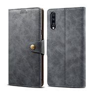 Lenuo Leather for Samsung Galaxy A50/A50s/A30s, Grey