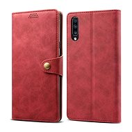 Lenuo Leather for Samsung Galaxy A70, Red