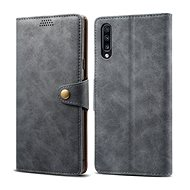 Lenuo Leather for Samsung Galaxy A70, Grey