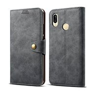 Lenuo Leather for Huawei P30 Lite, Grey