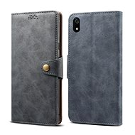 Lenuo Leather for Xiaomi Redmi 7A, grey - Mobile Phone Case