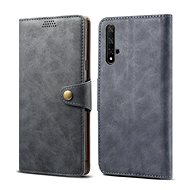 Lenuo Leather for Honor 20, grey - Mobile Phone Case