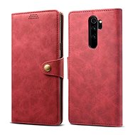 Lenuo Leather for Xiaomi Redmi Note 8 Pro, Red - Mobile Phone Case