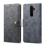 Lenuo Leather for Xiaomi Redmi Note 8 Pro, grey - Mobile Phone Case