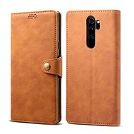 Lenuo Leather for Xiaomi Redmi Note 8 Pro, brown - Mobile Phone Case