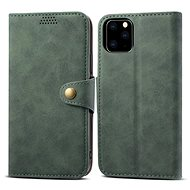 Lenuo Leather for iPhone 11 Pro, green - Mobile Phone Case