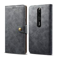 Lenuo Leather for Xiaomi Redmi 8, grey - Mobile Phone Case