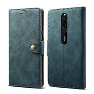 Lenuo Leather for Xiaomi Redmi 8, blue - Mobile Phone Case