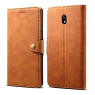 Lenuo Leather for Xiaomi Redmi 8A, brown - Mobile Phone Case