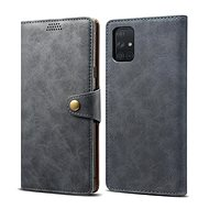 Lenuo Leather for Samsung Galaxy A51, gray - Mobile Phone Case