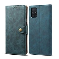 Lenuo Leather for Samsung Galaxy A51, blue - Mobile Phone Case