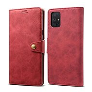 Lenuo Leather for Samsung Galaxy A51, red - Mobile Phone Case